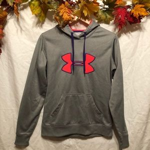 NWOT Under Armour Gray & Coral Sweatshirt